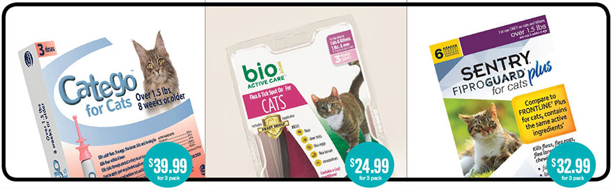 Tick products for cats