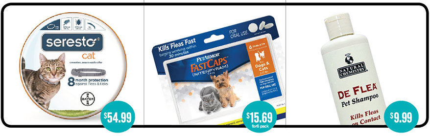 Topical tick products for cats