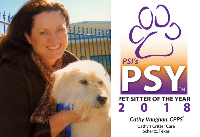 PETS pet sitter of the year cathy vaughan