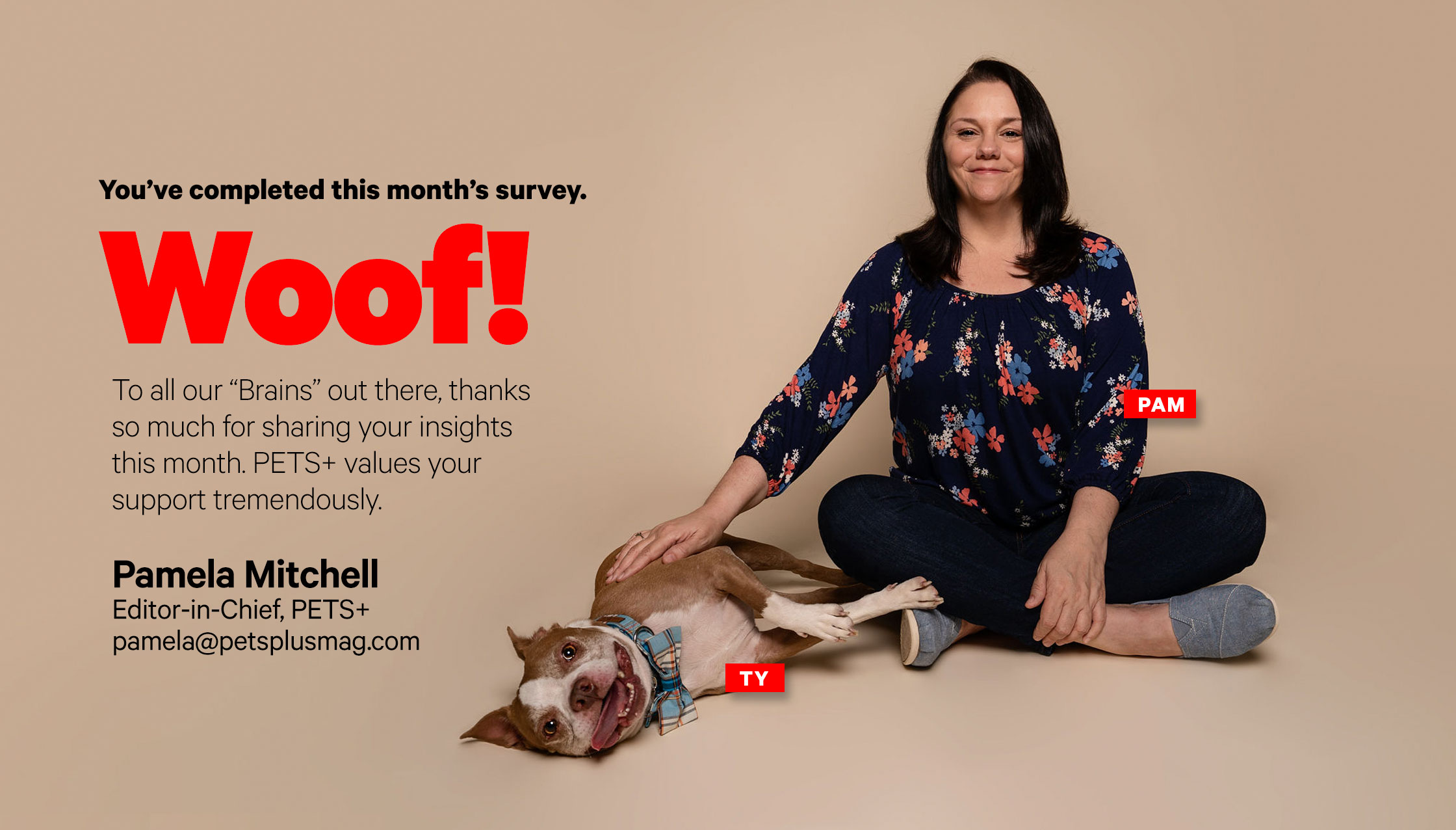 Pamela Mitchell, editor of PETS+
