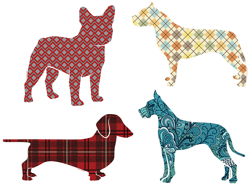 Dog decals from Fowl Dog