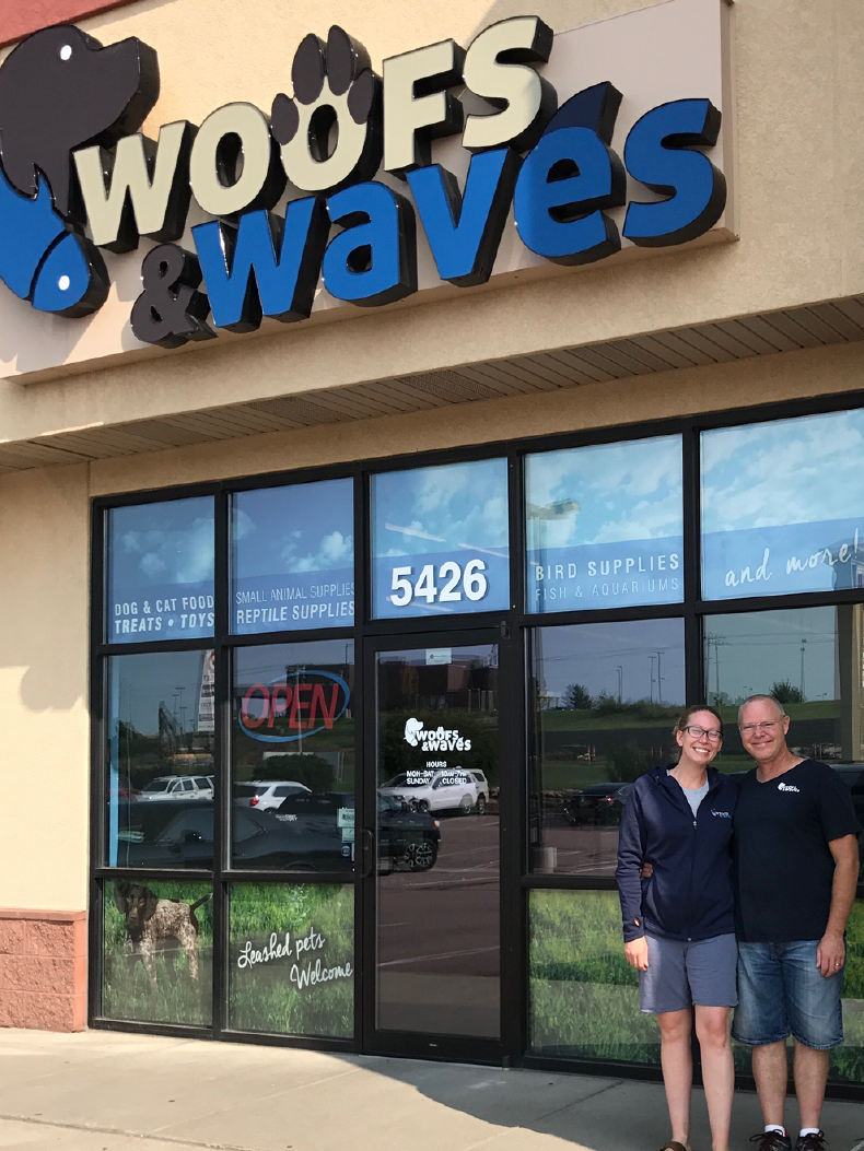 Mark and Nicole Olesen of Woofs & Waves
