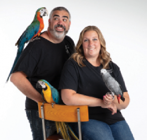 Sal and Jamie Salafia of Exotic Pet Birds Inc