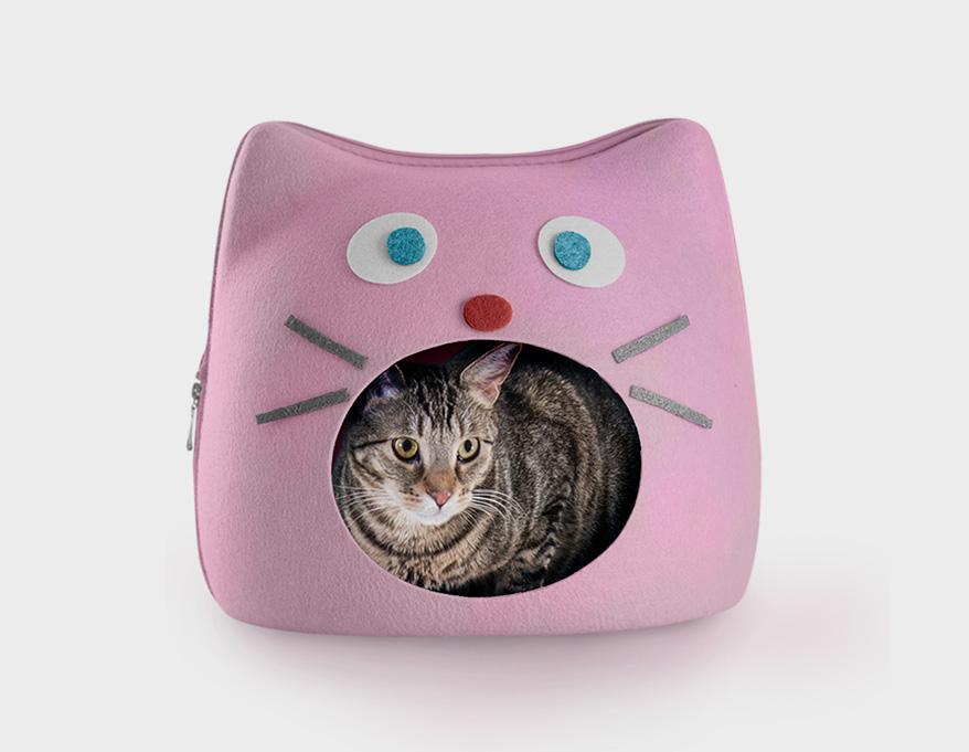 Felt Cubby Cat Shape Cutout Pet Bed from Furhaven
