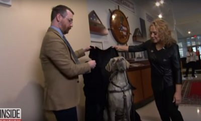 Video: Bush Service Dog Honored with Life-Size Statue — Take a Look