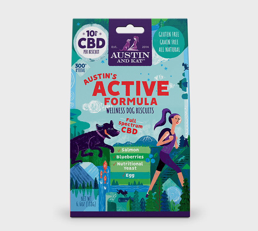 Austin's Active Formula CBD Wellness Biscuits from Austin and Kat
