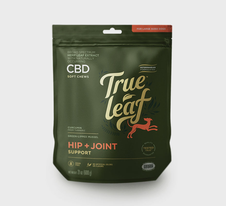 Broad Spectrum CBD Hip + Joint Support Chews from True Leaf