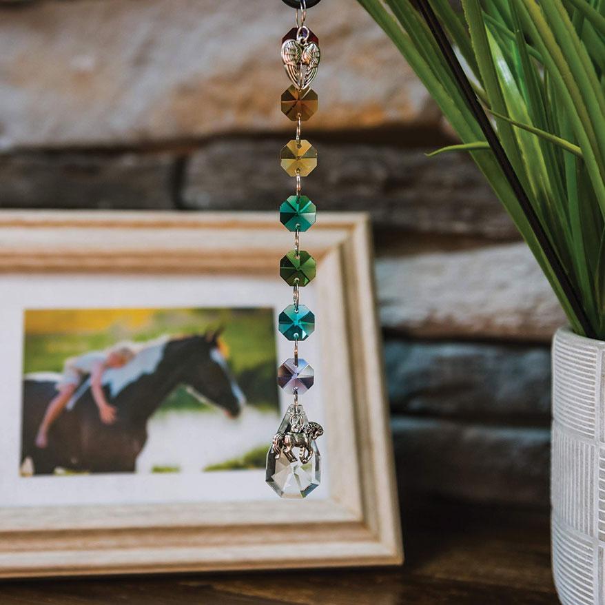 Crystal Rainbow Suncatcher Horse Memorial Keepsake from Pet Perennials