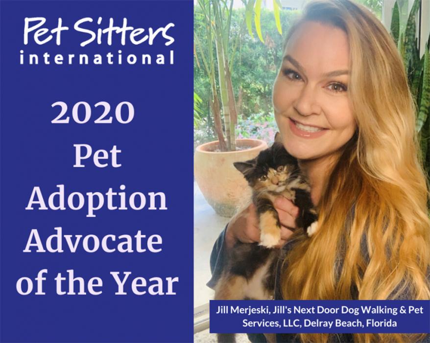 Jill Merjeski, owner of Jill's Next Door Dog Walking & Pet Services