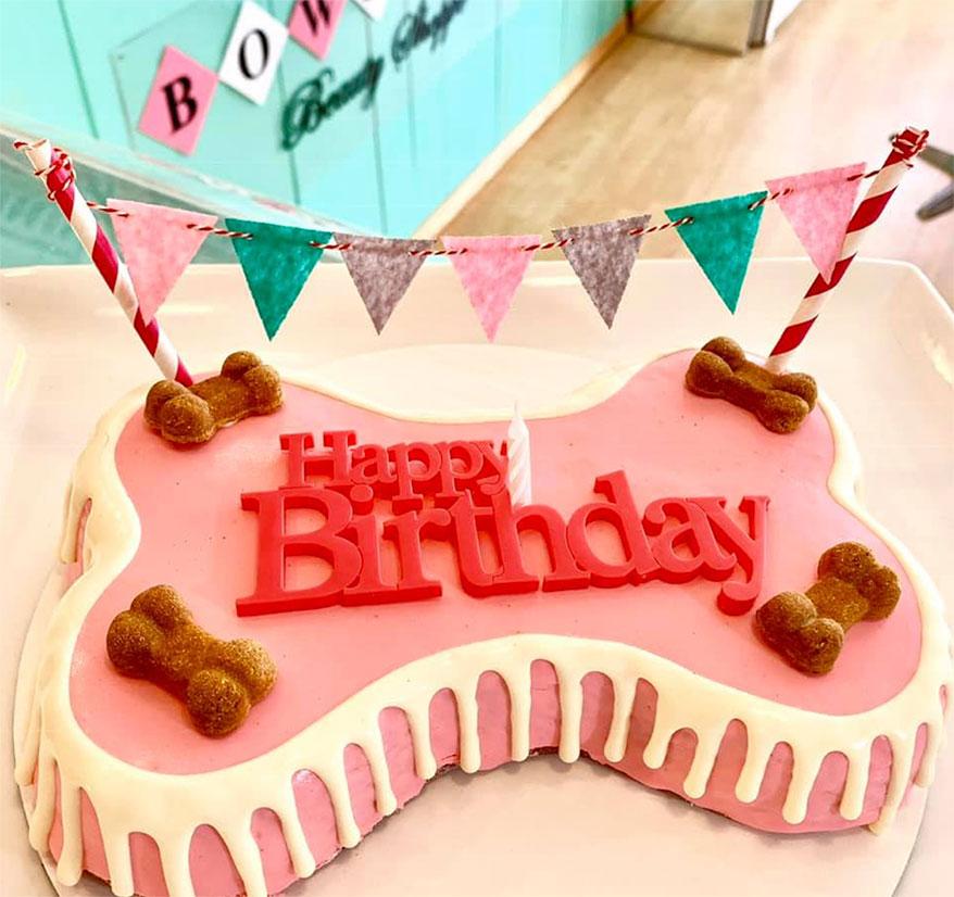 Bow Wow Beauty Shoppe, CA birthday cake