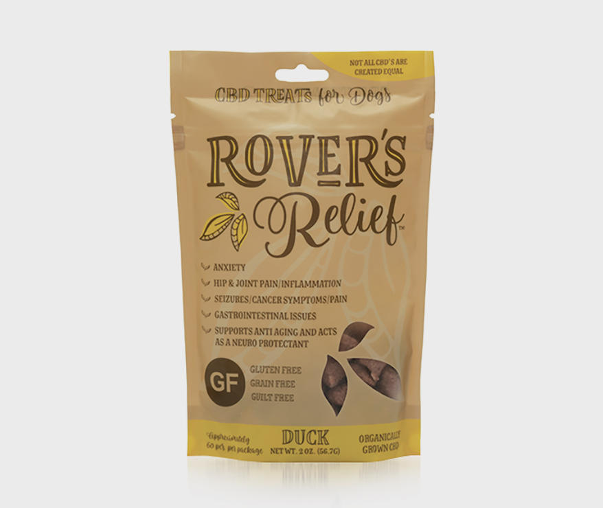 Rover's Relief 1 MG CBD Freeze Dried Treats for Dogs