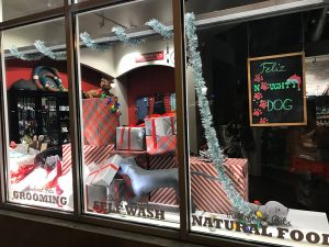 Riverfront Pets Christmas Window