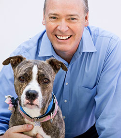 Brett Yates and dog