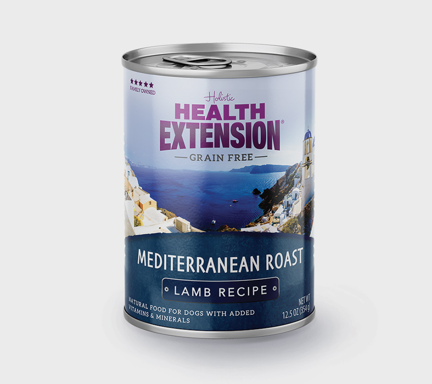 Health Extension Mediterranean dog canned food