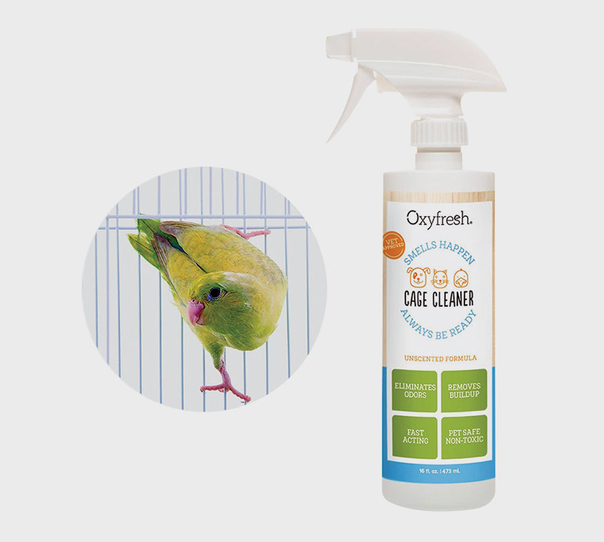 Oxyfresh cage cleaner