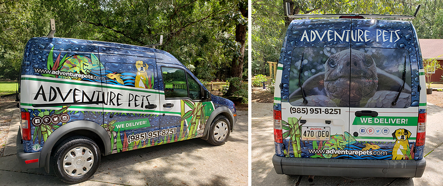 Adventure Pets delivery vehicle