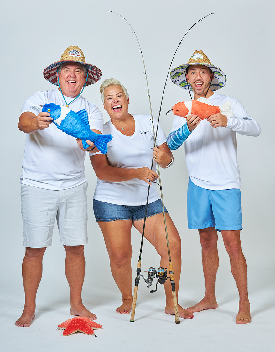 From left, Mike Vasquez, Tammy Vasquez and Mike Vasquez Jr. are all members of the Bark Life fishing team.