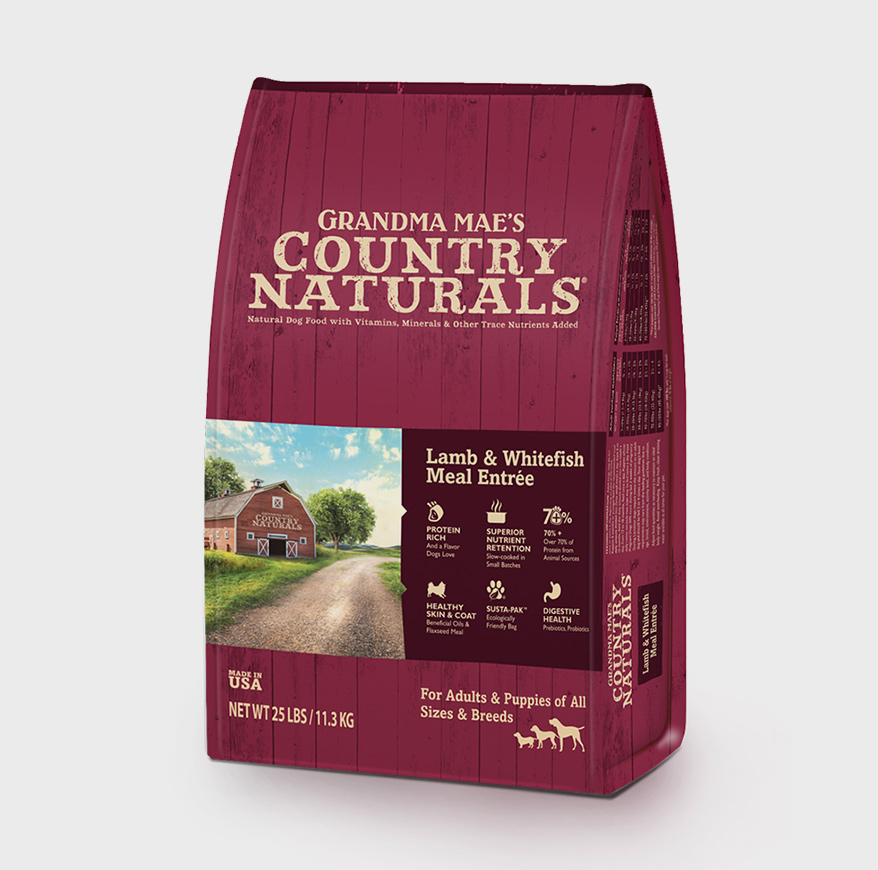 GRANDMA MAE'S COUNTRY NATURALS Lamb and Whitefish Meal Entree for dogs