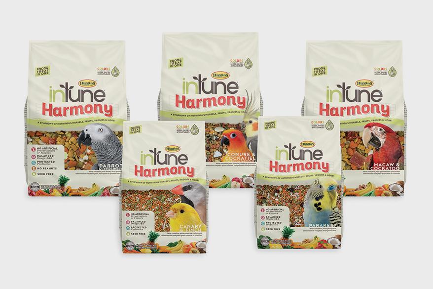 HIGGINS PREMIUM PET FOODS, InTune Harmony seedless food and treat