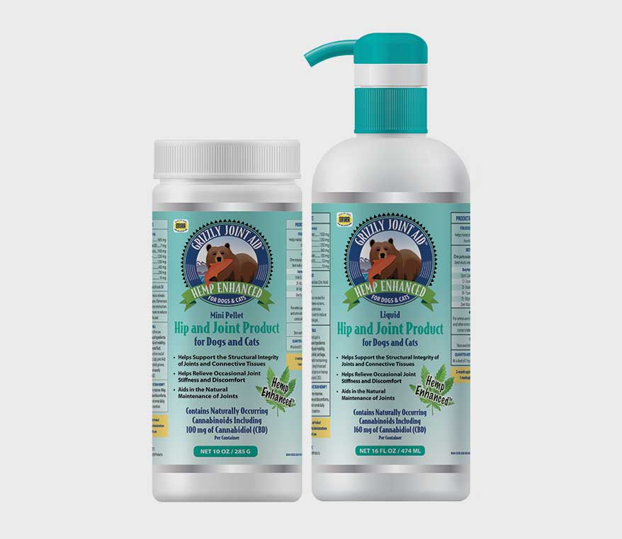 Grizzly Pet Products' Hemp-Enhanced Joint Aid