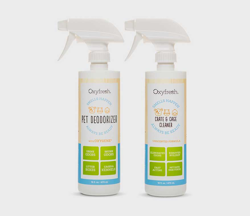 Oxyfresh non-toxic Pet Deodorizer and Crate & Cage Cleaner