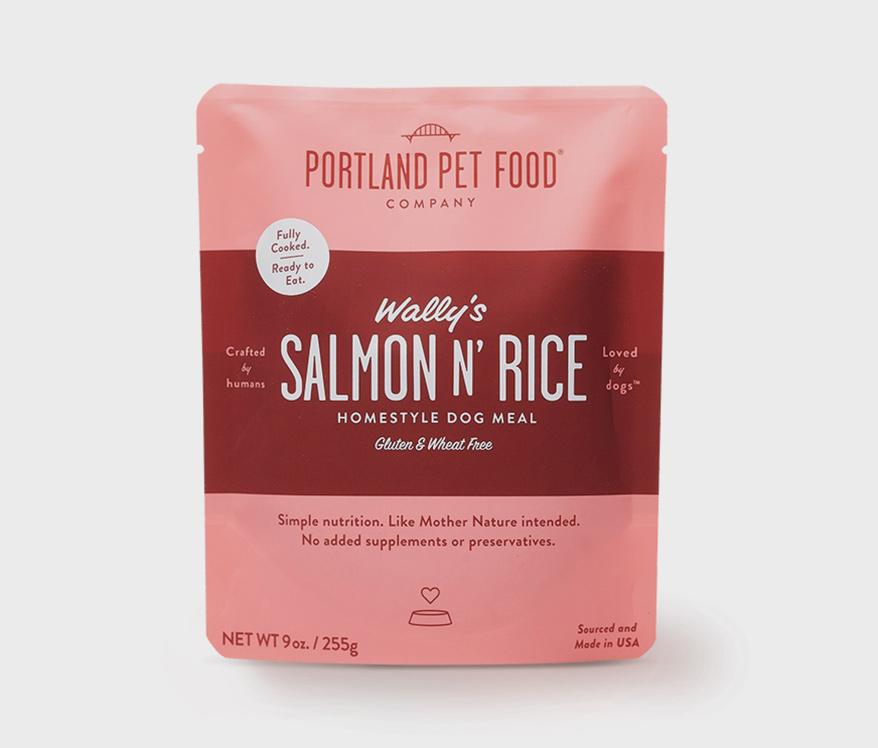 Portlland Pet Food Salmon N Rice Packaging