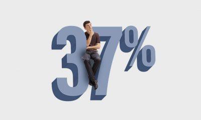37 percent