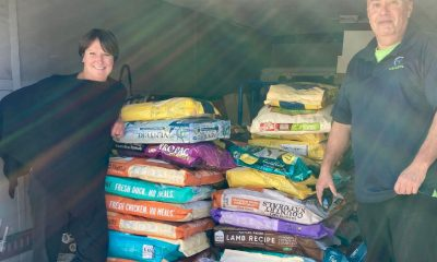 CVH founder Jenny Hubbard and Pet Food Experts delivery driver Paul Porto