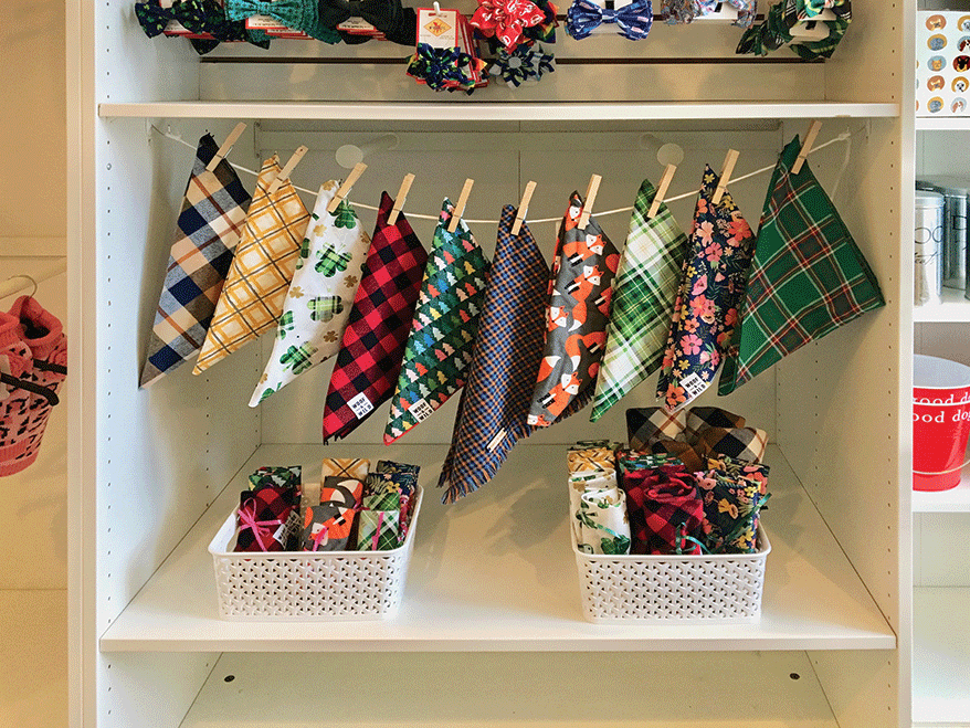 Lucky Dogs bandana display