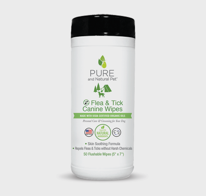 Pure and Natural Flea & Tick Canine Wipe