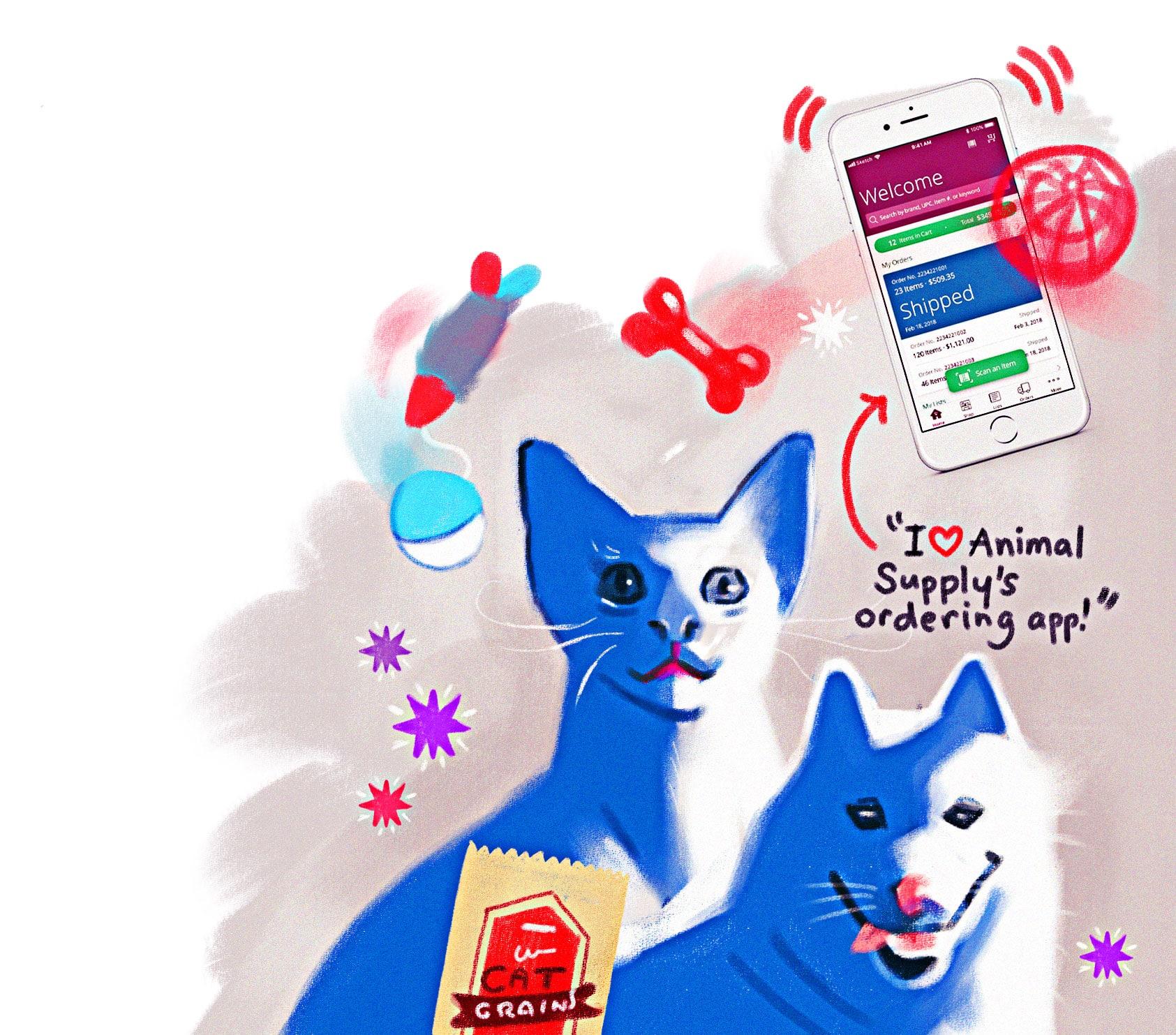 Animal Supply's ordering app