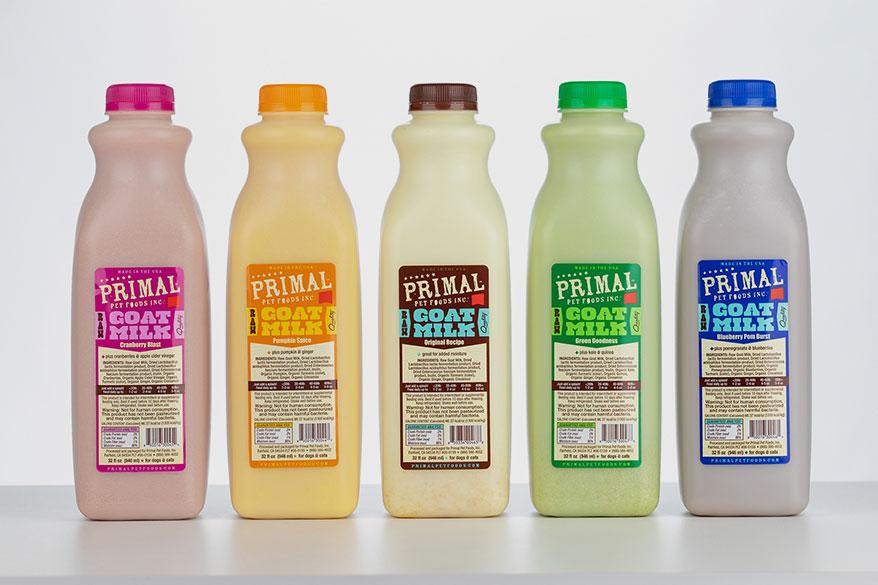 Primal Pet Foods goat milk bottles