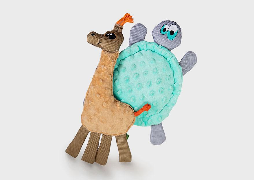 WO giraffe turtle dog toy