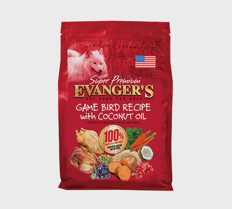 EVANGER'S Super Premium Dry Food For Dogs – Game Bird Recipe with Coconut Oil