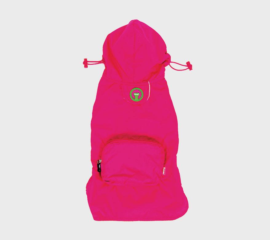 fab dog-packaway-raincoat