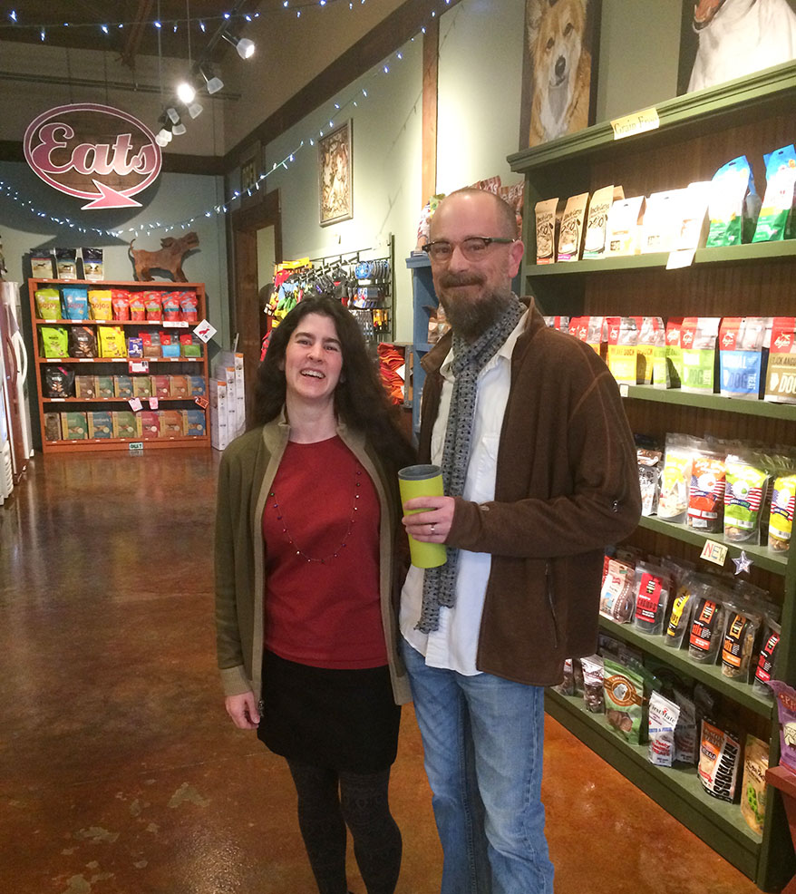 Christine and Michael Mallar work to make pets and the planet healthier. Michael came up with the store name, which perfectly reflects their mission.
