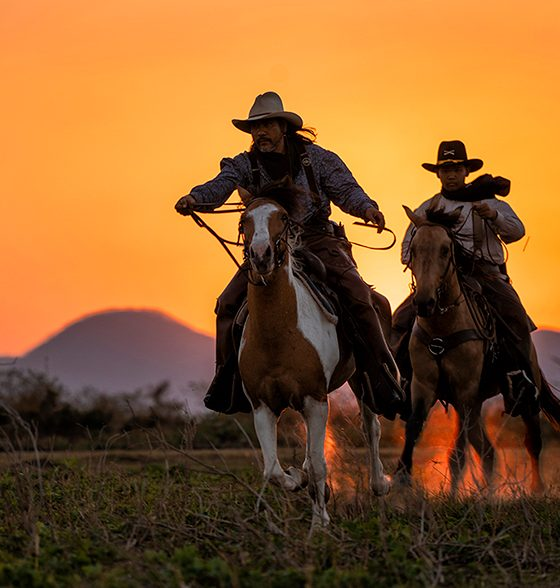 2 horse riders