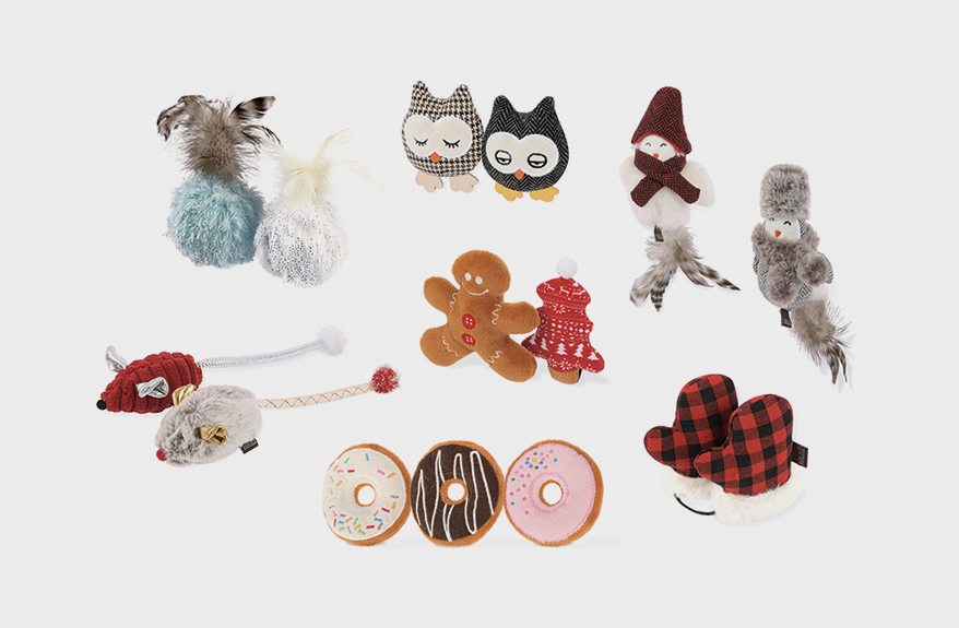 P.L.A.Y. PET LIFESTYLE AND YOU Festive Feline Frenzy Toys